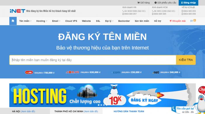 iNET domain - nơi dịch vụ tốt nhất