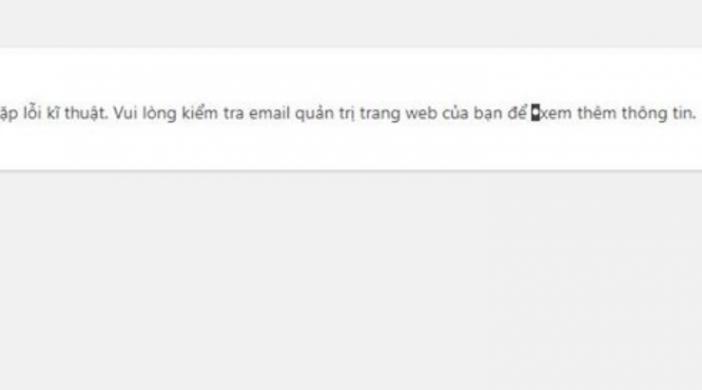 """Lỗi """"Trang web đang gặp vấn đề lỗi kỹ thuật"""" trong WordPress và cách để fix"""