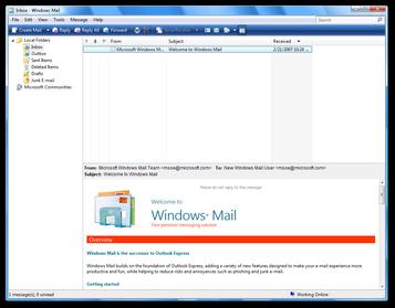 Thiết lập email trong Windows Mail (chỉ dành cho người dùng windows7 & 8)
