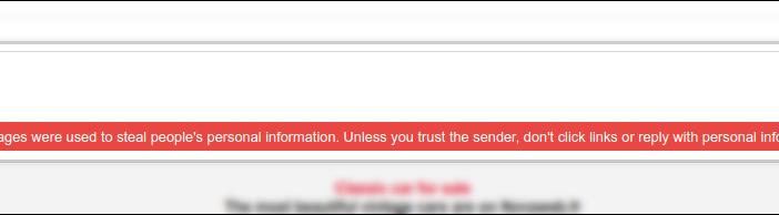 Email bị phản hồi chứa suspicious links - link độc hại