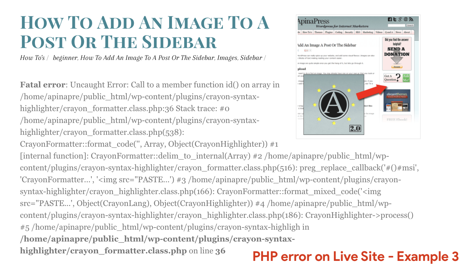 PHP-error-on-Live-Site-Example-3
