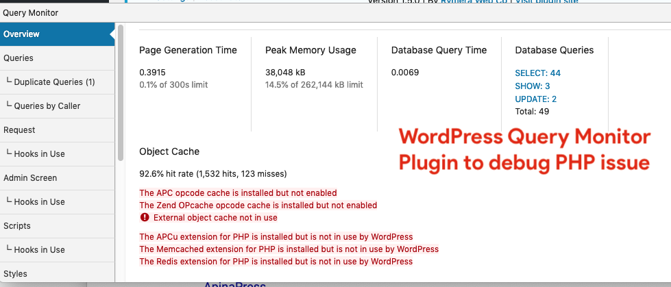 WordPress-Query-Monitor-Plugin-to-debug-PHP-issue