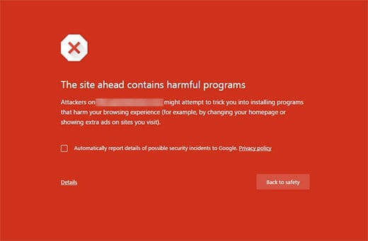 "Cách khắc phục lỗi ""This site ahead contains harmful programs"""