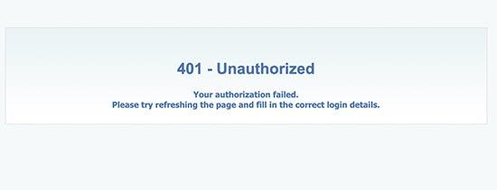authorizationfailed