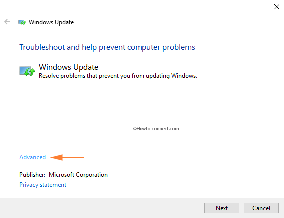 1917_Windows_Update_Troubleshooter_Advanced_link
